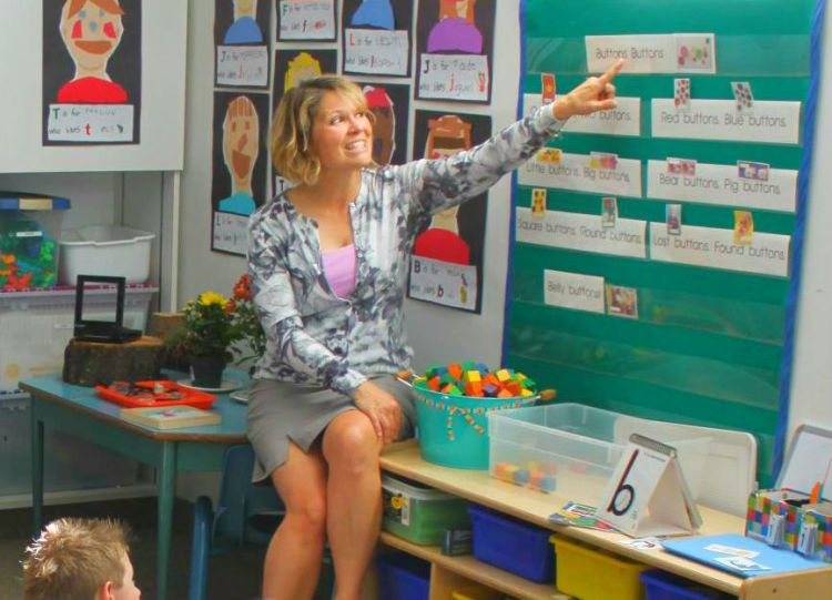Glamorgan Community Kindergarten teacher Val Driedger